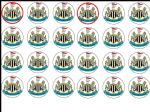 24 Newcastle United Football Club Edible Wafer Rice Cup Cake Toppers Utd FC